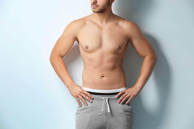 Sexy,Shirtless,Man,On,White,Background